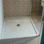 Receveur de douche en pierre de Bourgogne Beige clair