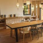 Evier Sénanque et plans de cuisine en piere de Bourgogne Doré Antiquaire