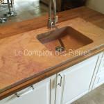 Evier encastré en pierre de Bourgogne Corton