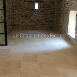 Dallage en pierre de BourgogneAmpillyFinition Vieux Beaune LL40-50 cm