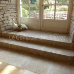 Escalier et dallage en pierre de bourgogne Lavigny Vieilles Dalles