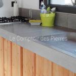 Evier et plan de cuisine en pierre de Bourgogne Gris-Bleu