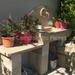 Evier extérieur en pierre de Bourgogne
