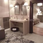 Plan double vasque Goult en pierre de Bourgogne beige clair