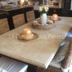 Plateau de table en pierre de Bourgogne Lavigny Vieilli
