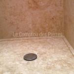 Receveur de douche en pierre de Bourgogne doré vieilli