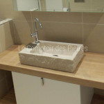 Vasque Saint-Quentin en pierre de Bourgogne beige clair