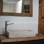 Vasque Uzes en pierre de Bourgogne beige clair