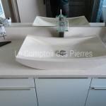Vasque Vence et plan en pierre de bourgogne beige clair