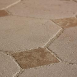 Dallage cabochons en pierre de Bourgogne Bastide