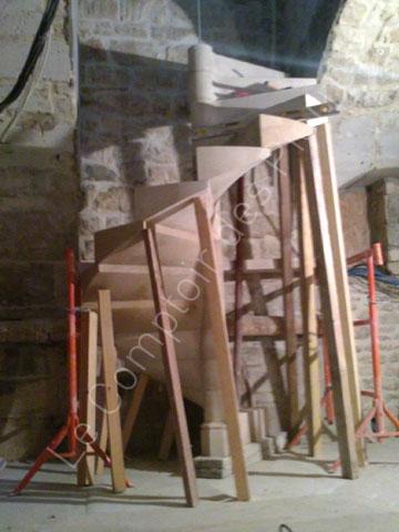 escalier helicoidal en pierre