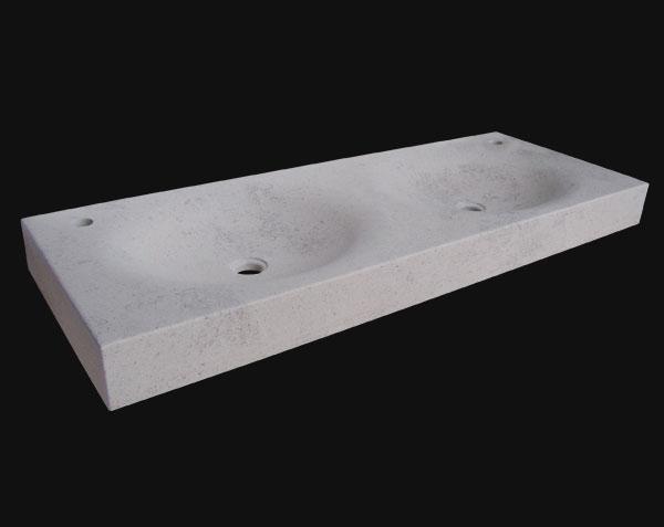 Vasque en pierre de Bourgogne beige clair adouci
