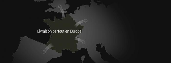 Carte livraison pierre de Bourgogne en Europe