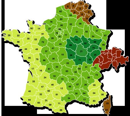 Carte du tarifs livraison de nos produits cuisine et bain en pierre de Bourgogne
