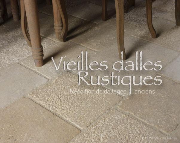 Dallage en pierre de Bourgogne | Vieilles Dalles de Bourgogne Rustiques