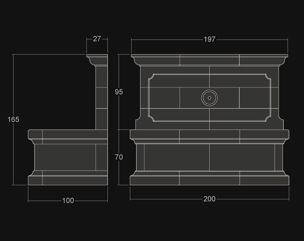fontaine bonnieux en pierre de bourgogne le comptoir des pierres. Black Bedroom Furniture Sets. Home Design Ideas