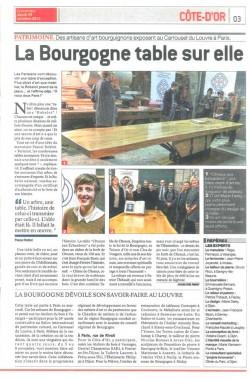 Le Bien Public article table Citeaux aux Échardons