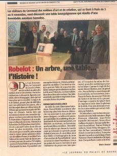 Table Citeaux aux Échardons - Parution Journal su Palais