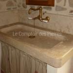 Evier et crédences en pierre de Bourgogne
