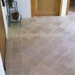Dallage et pavés en pierre de Bourgogne intérieur 20x20 cm