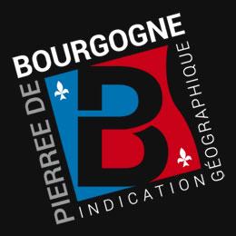 Logo de l'indication géographique Pierre de Bourgogne [fond noir 260x260]