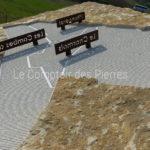 Mairie de Saint-Aubin - Table d'orientation gravée sur pierre de Bourgogne