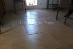 Flooring - tiles Lanvignes Golden-yellow with pillowed edge