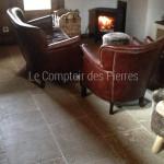 Dallage en pierre de BourgogneLanvignes Finition Monastère LL40 cm