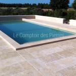 Dallage en pierre de BourgogneLanvignes Finition Vieux Beaune LL50-60 cm