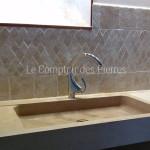 Evier Lauris en pierre de Bourgogne Charmot Doré Adouci