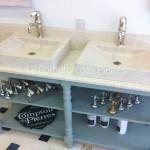 Vasque Goult et plan de cuisine en pierre de Bourgogne Charmot Clair Adouci Mitigeur Goult Chromé