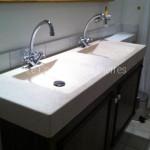 Plan double vasque Goult en pierre de Bourgogne Charmot Clair Adouci