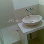 Vasque Valbonne en pierre de Bourgogne Charmot Clair Adouci