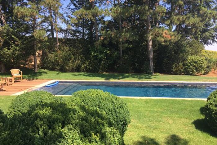 Abords de piscine en pierre naturelle - Lanvignes Doré Jaune Rustique - Epaisseur 3 cm