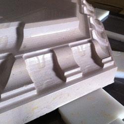 Usinage 3D de margelles de bassin en pierre de Bourgogne
