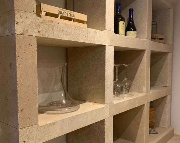 Casier rangement cave à vin - Pierre de Bourgogne Lanvignes