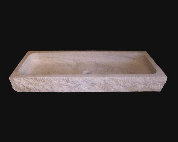 Vasque Uzes en pierre de Bourgogne Charmot Clair Adouci