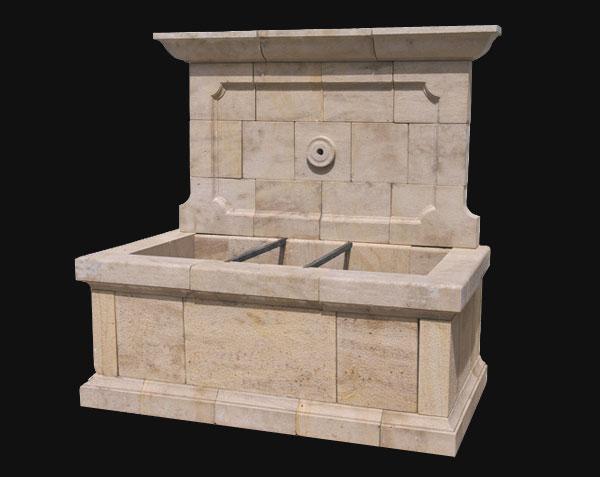 Fontaine Bonnieux en pierre de Bourgogne massive