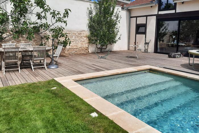 Margelle de piscine - Lanvignes Doré Jaune Classique - Epaisseur 5 cm