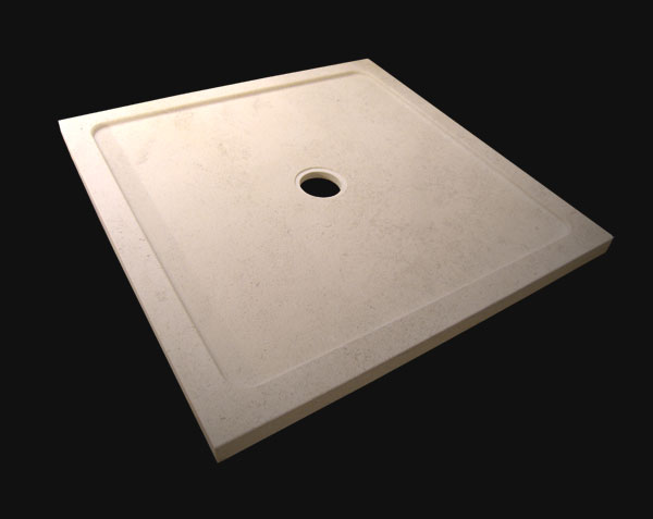 Shower tray - Classic - in Burgundy stone