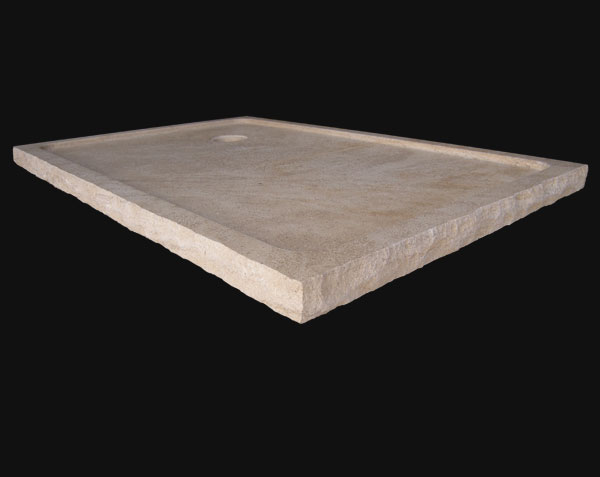 Shower tray - Classic - in Burgundy stone with aged sides