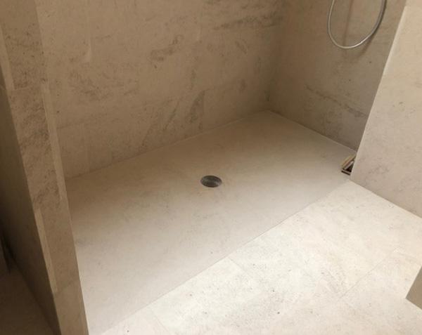 Receveur de douche 160x90 cm en pierre naturelle - Encastré