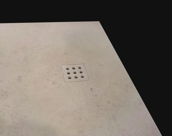 Receveur de douche sur mesure avec grille