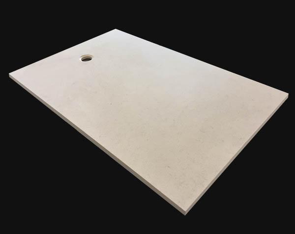 Receveur extra plat en pierre naturelle - Charmot Clair Adouci