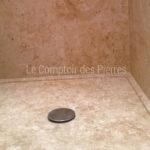 Shower trayin Burgundy limestone Aged Lanvignes
