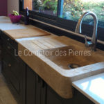 Lauris sinkin Burgundy limestone Lanvignes Aged finish