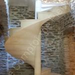 Massive stone staircase in Semond Burgundy limestone