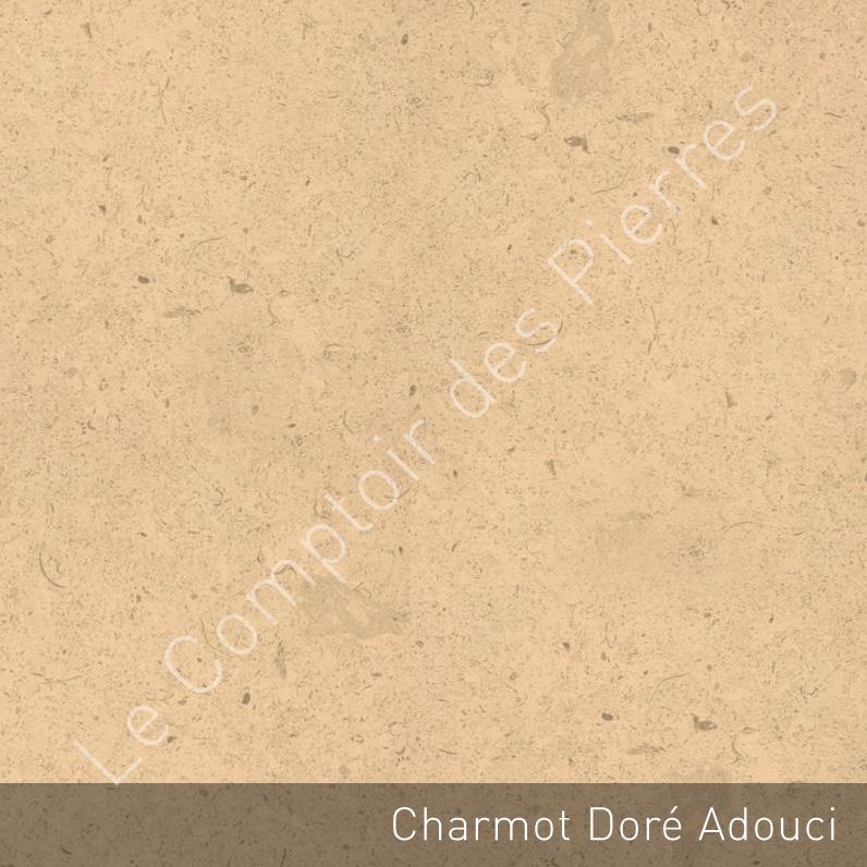 Burgundy limestone - Charmot golden - Honed finish