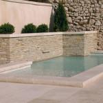 Pool coping stones <br/>Lanvignes Burgundy limestone<br/> Thickness 6 cm