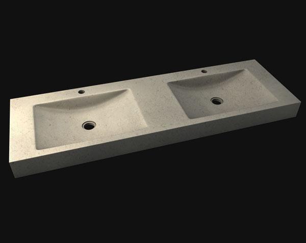 Double vasque Goult en pierre de Bourgogne